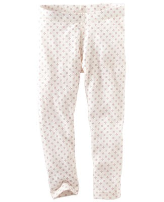 Tea Cream/Pink Radiant Rice Print Leggings