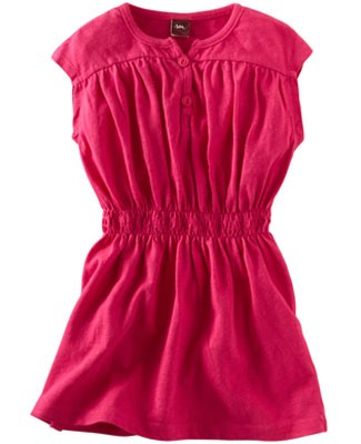 Tea Raspberry Happy Henley Play Dress