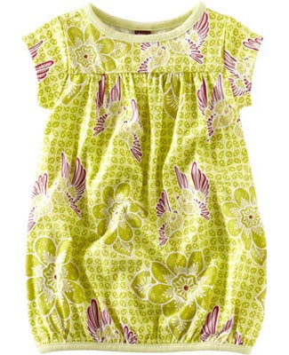 Tea Lime Starling Batik Play Dress