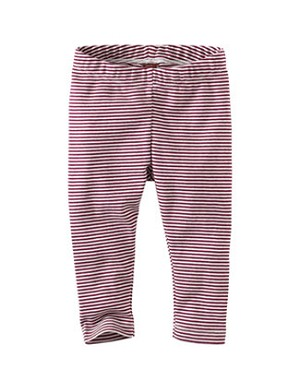 Tea Burgundy Stripe Skinny Capri Leggings
