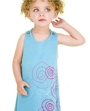 Tomat Organic Blue Flower Tank Dress