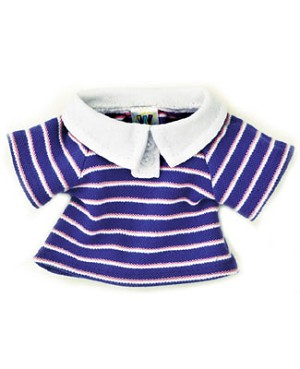 II: Ganz Webkinz Clothing - Blue & Pink Striped Polo Shirt
