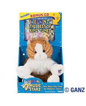 Ganz Webkinz Music Starz Webkinz/CD Combo - Striped Alley Cat