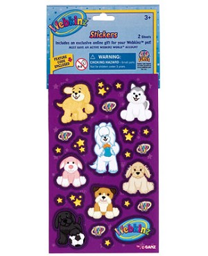 Ganz Webkinz Stickers - Dog