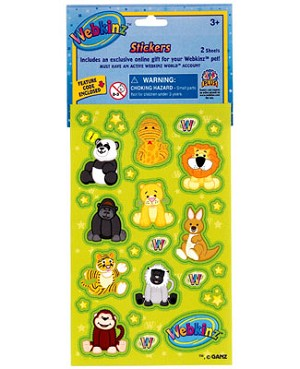 Ganz Webkinz Stickers - Jungle