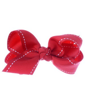 II: Wee Ones Medium Knot Stitched Grosgrain Bow *MANY COLORS*