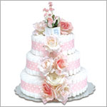~ Bloomers *Pink Roses w/ Polka Dots* Baby Diaper Cake
