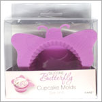 Ganz Silicone PURPLE BUTTERFLY Cupcake Mold *Set of 6*