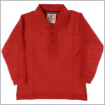 GT Red Pique L/S Polo Tee