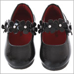 Z: L'Amour BLACK Patent Flower Mary Jane Shoes