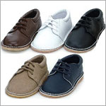 Z: L'Amour BOYS BROWN Lace Up Dress Shoes