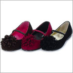 Z: L'Amour BROWN Ribbon Pom Pom Shoes