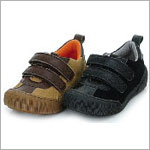 Z: L'Amour BOYS TAN Two Tone Double Velcro Shoes
