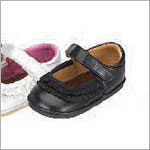 Z: L'Amour BLACK Baby Ruffle Mary Janes