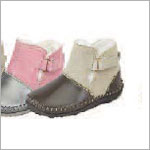 Z: L'Amour BROWN Baby Moccasin Style Boots with Buckle