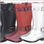 Z: L'Amour RED/WINE Side Buckle Boots