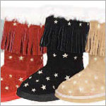 Z: L'Amour BLACK Star Fringe Boots