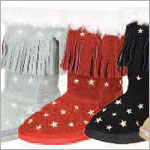 Z: L'Amour RED Star Fringe Boots